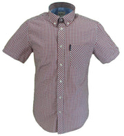Ben Sherman Mens Red Gingham Check Short Sleeved Shirts …