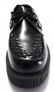 Classic Rockabilly Black Leather T.U.K. Creepers