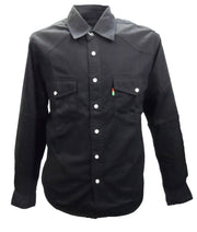Duke Mens Black Western-style Denim Shirt