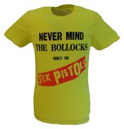 Mens Yellow Official Sex Pistols NMTB T Shirt