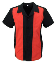 Mazeys Retro Black/Red Rockabilly Bowling Shirts