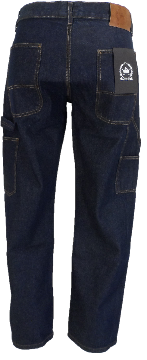 Relco Mens Carpenter Vintage Raw Denim Jeans