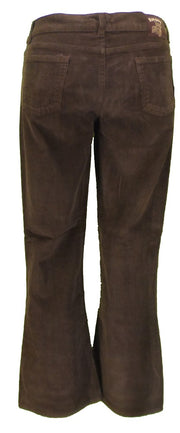 Mens Vintage 60s 70s Retro Brown Bootcut Flared Cords
