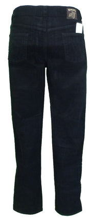 Run & Fly Mens Black Retro Vintage Corduroy Drainpipe Jeans