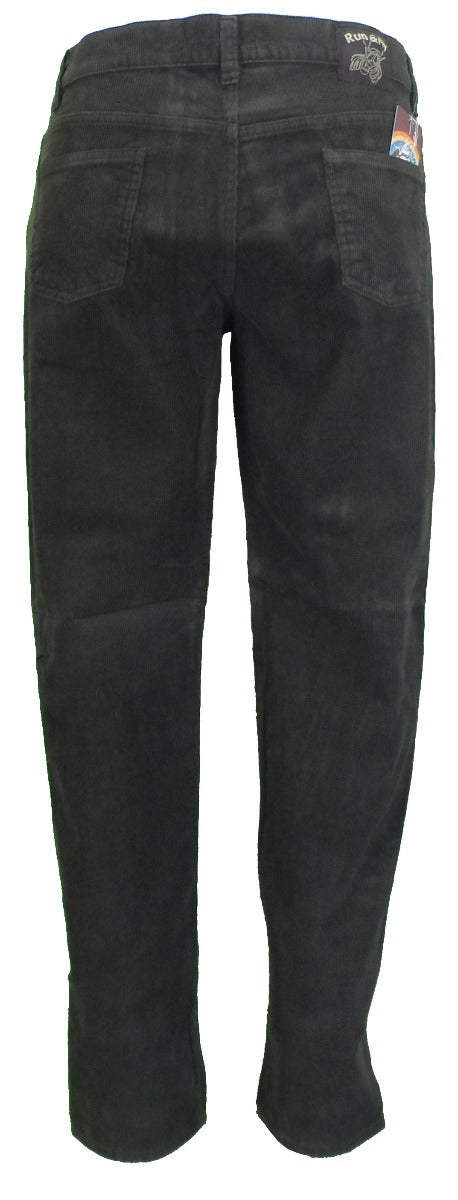Run & Fly Mens Brown Retro Vintage Corduroy Drainpipe Jeans