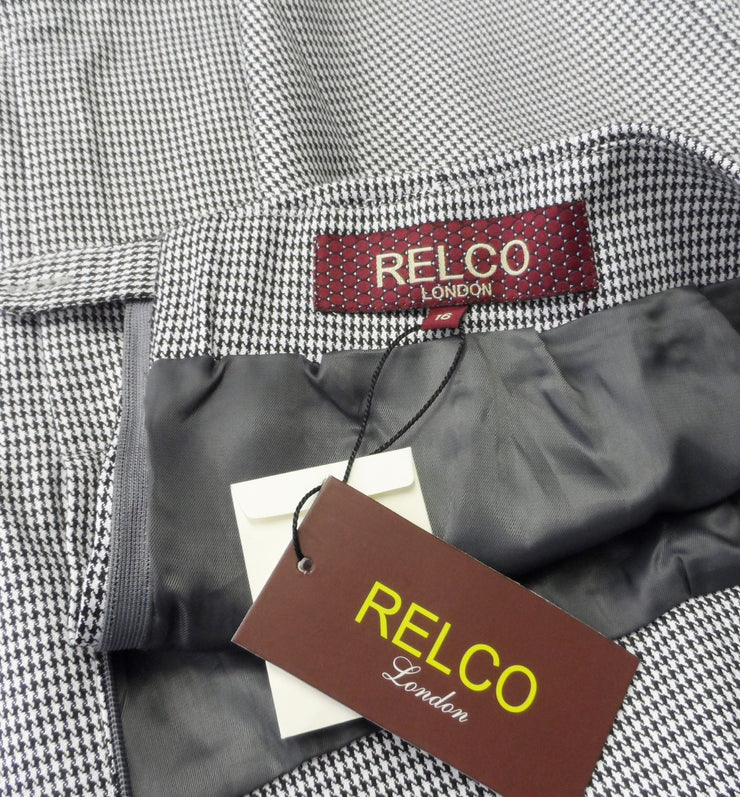 Relco Ladies Retro Rude Girl Dogtooth Pencil Skirt