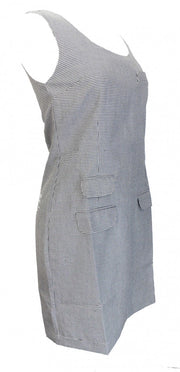 Relco Ladies Retro Mod Dogtooth Pinafore/Tunic Dress