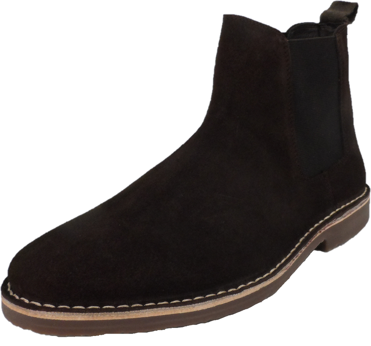 Hush Puppies Mens Brown Real Suede Chelsea Desert Boots