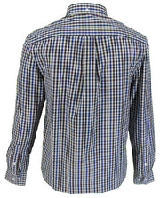Farah Long Sleeved Blue/Burgundy/White Gingham Button-Down Shirts