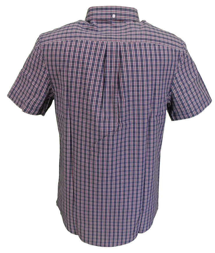 Farah Mens Rasin Red Gingham Check Short Sleeved Shirt