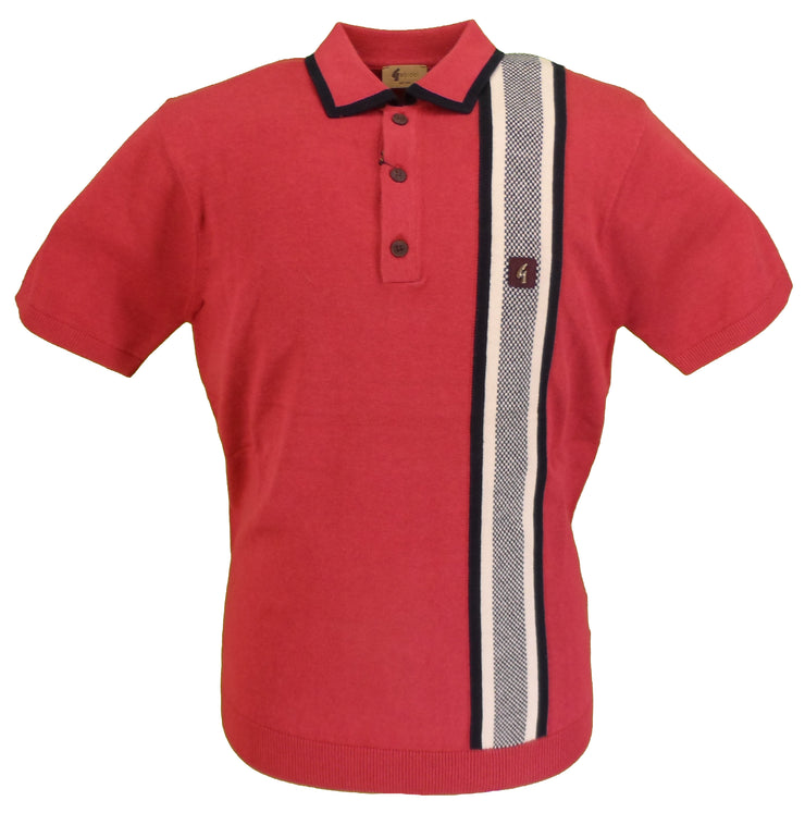 Gabicci Vintage Mens Grendine Knitted Polo Shirt