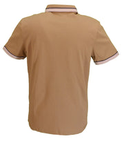 Gabicci Vintage Mens Butterscotch Retro Polo Shirt