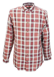 Farah Red Gosling Long Sleeved Retro Mod Button Down Shirts