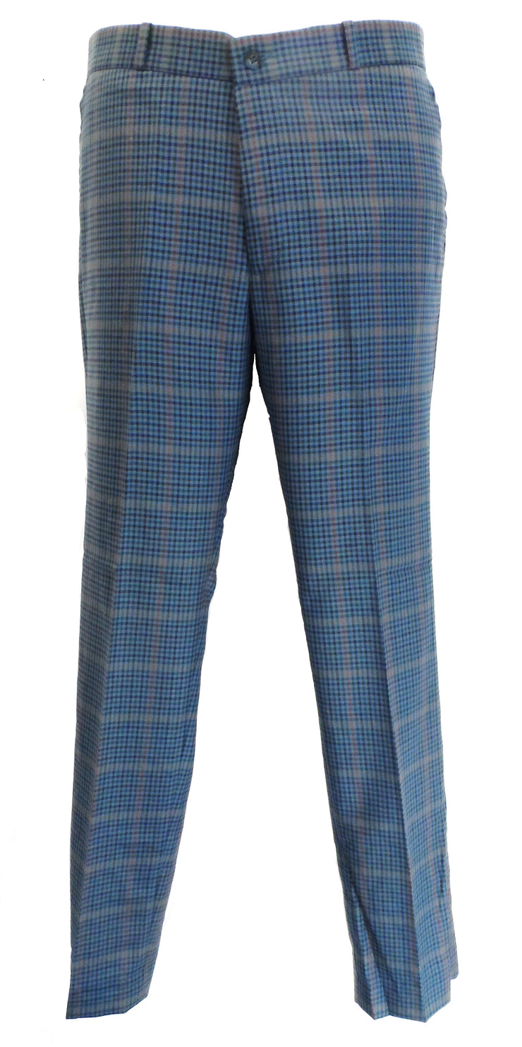 Relco Blue Tweed 60S 70S Retro  Mod Vintage Sta Press Trousers