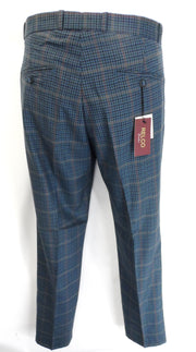 Blue Tweed 60S 70S Retro Mod Vintage Sta Press Trousers