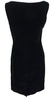 Hearts & Roses Womans Black Romance Velvet Wiggle Dress