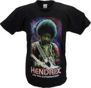 Mens Black Official Jimi Hendrix 'Are You Experienced Cosmic T Shirt