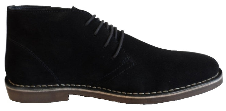 Hush Puppies Mens Navy Real Suede Desert Boots
