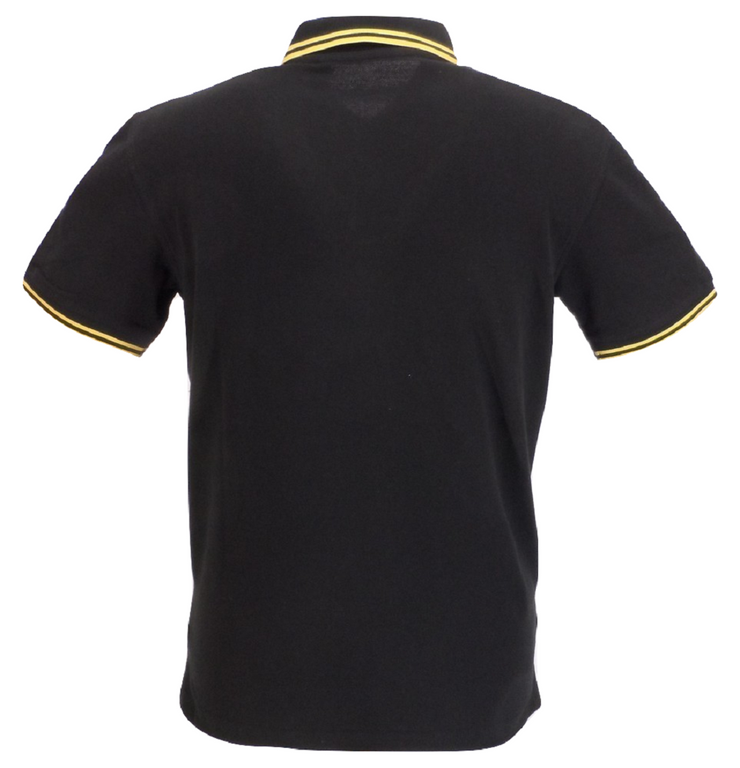 Ikon Original Black & Yellow Tipped 100% Cotton Polo Shirts