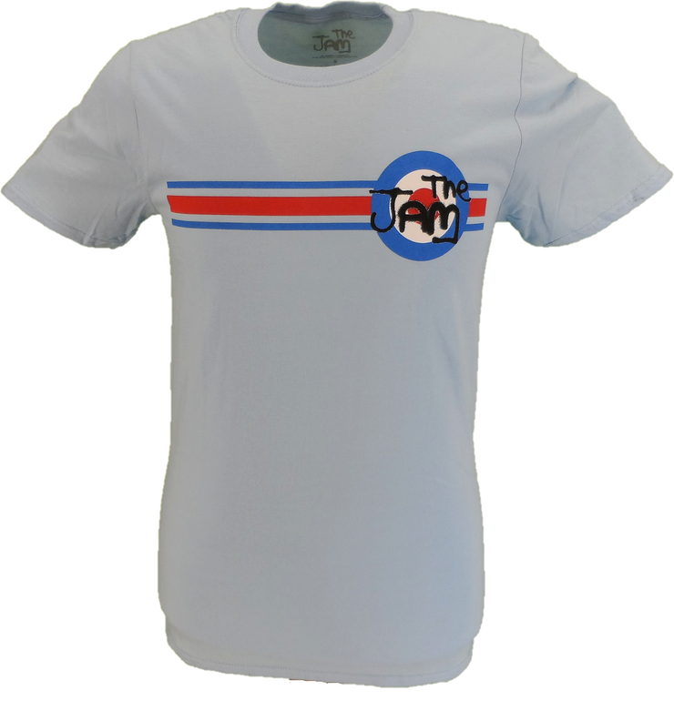 Mens Sky Blue Official The Jam Stripe and Target T Shirt