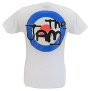 Mens White Target Official The Jam T Shirt With Back Print