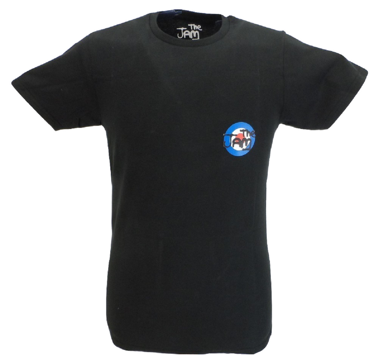 Mens Black Target Official The Jam T Shirt With Backprint