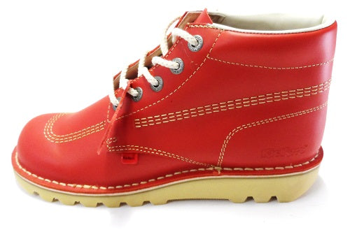 Original Kickers Red Classic Leather Boots