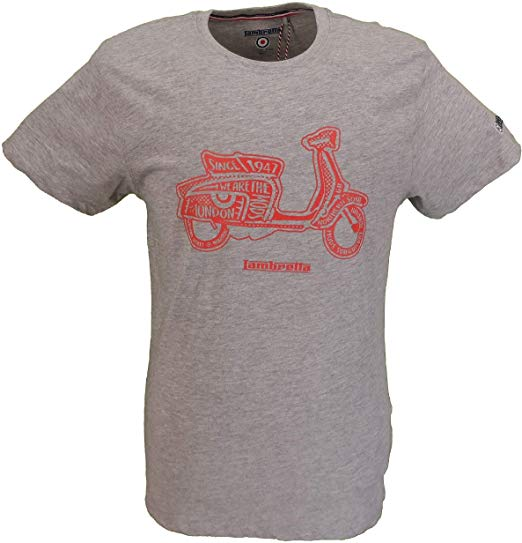 Lambretta Marl Grey Scooter Retro T-Shirt