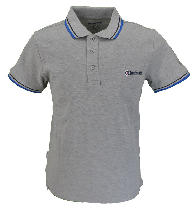 lambretta grey polo shirt
