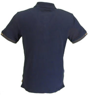Lambretta Mens Retro Navy Gold Polo Shirts