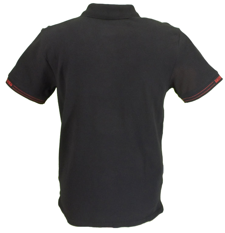 Lambretta Mens Retro Black & Red Polo Shirts