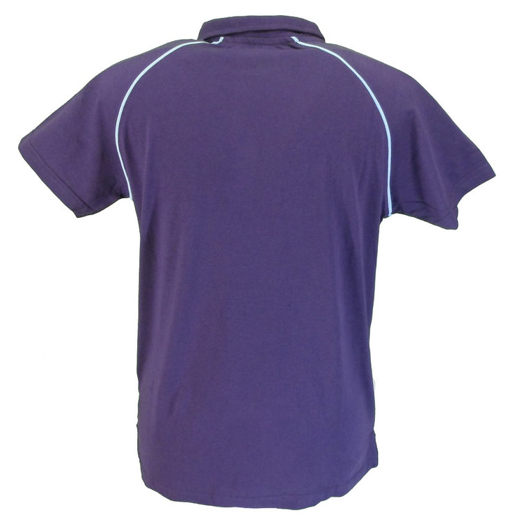 Lambretta Purple/Sky Piped 100% Cotton Polo Shirt …