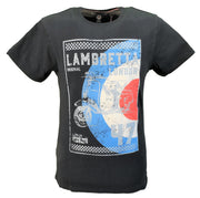 Lambretta Navy Distressed Union Jack Target Scooter Retro T-Shirt