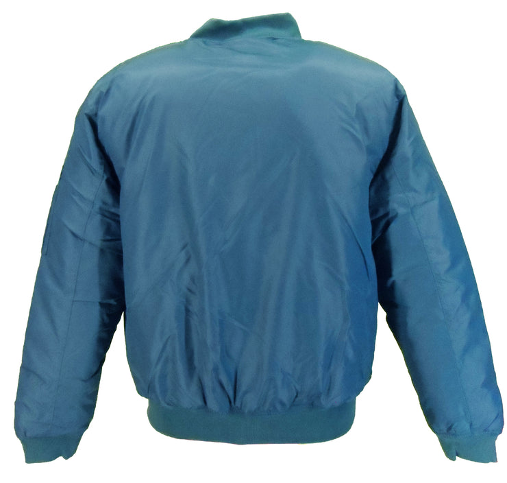 Relco MA-1 Petrol Blue Flight Pilot Bomber Jackets