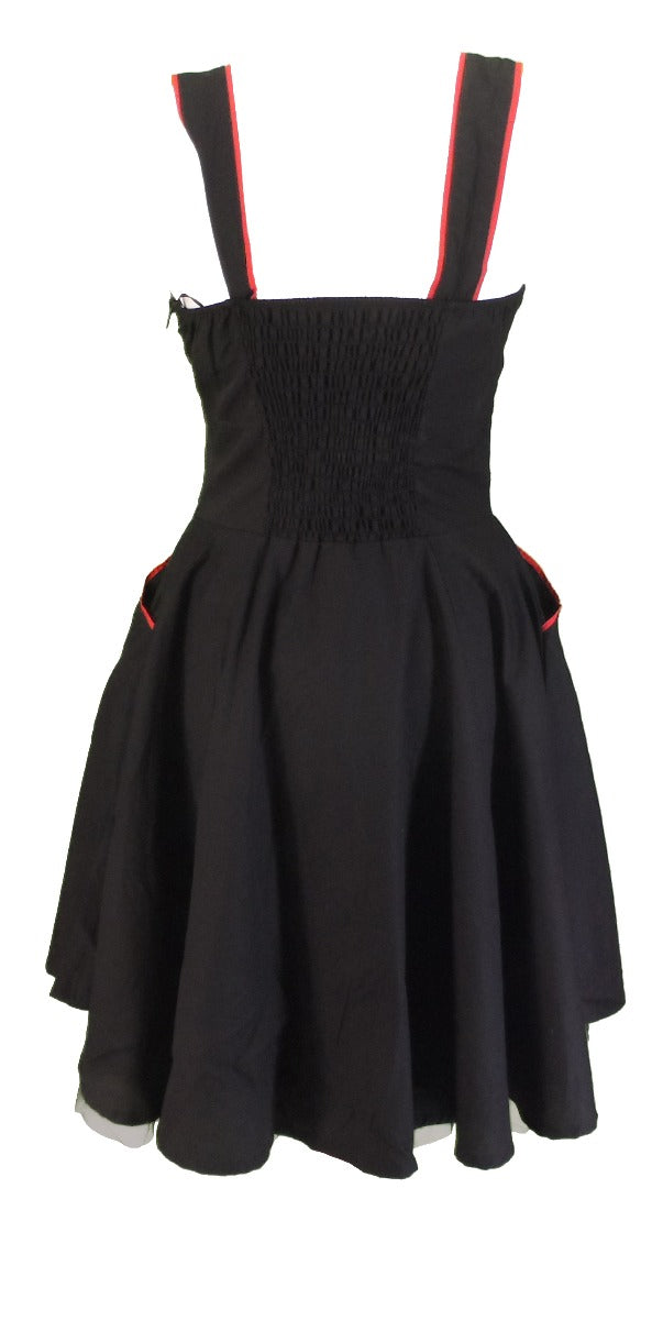 Vixxsin Marianne Black Retro Rockabilly Swing Rose Jive Dress