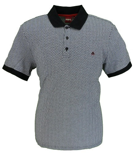 Merc London Deptford Jacquard Polo