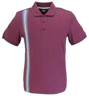 Merc London Burgundy Goldhawk Polo Shirt