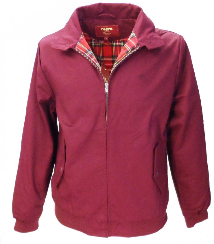 Merc Burgundy Harrington Jacket