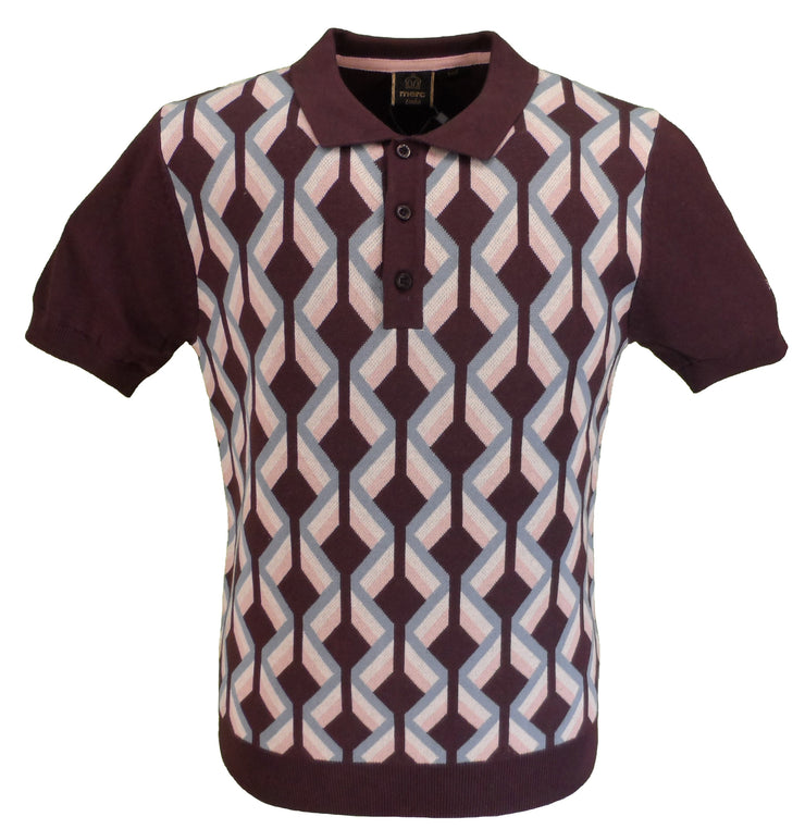 Merc Jordan Grape Knitted Vintage Mod Polo Shirts