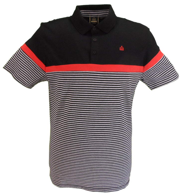 Merc Mens Clarence Black Classic Polo Shirts