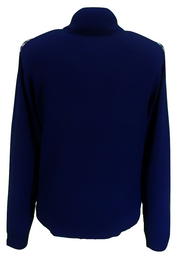 Merc Mens Navy Lockhill Knitted Turtle Neck Jumper
