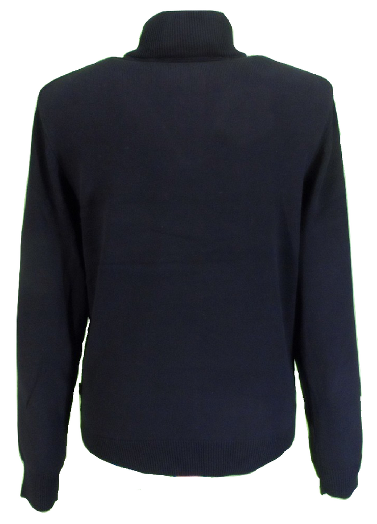 Merc Mens Black Lockhill Knitted Turtle Neck Jumper