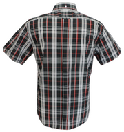 Mazeys Mens Black/Grey/Red Checked 100% Cotton Short Sleeved Shirts