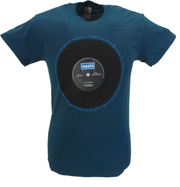Mens Officially Licensed Oasis Blue Live Forever T Shirts