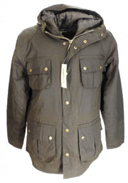 Relco Olive Green Waxed Military Style Coats