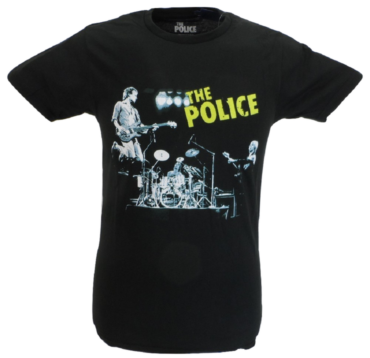 Mens Black Official The Police Live T Shirt