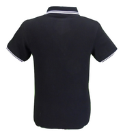 Mens Black/White Twin Tpped Polo Shirts
