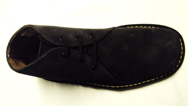 Roamers Black 3 Eyelet Retro Mod Style Real Suede Desert Boots