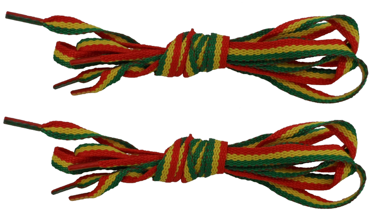 2 Pair Pack of Rasta and Jamaican 100 CM Shoe Boot Laces
