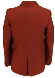 Ladies Relco Tonic Retro Mod Burgundy/Black Short Jackets